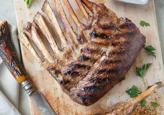 grilled rack of american lamb with dijon balsamic glaze