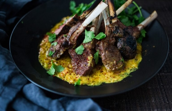 Roasted American Lamb Chops with Fragrant Indian Fenugreek Sauce
